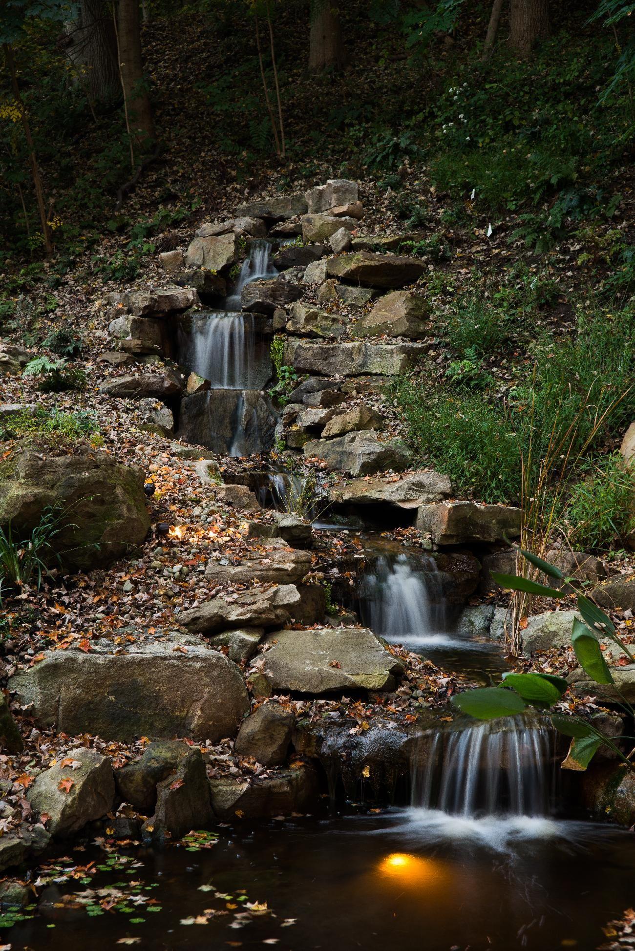 Pond installation waterfalls pondless waterfalls for Backyard pond installation