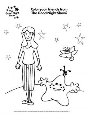 Nina And Star Coloring Page Star Coloring Pages Outer Space
