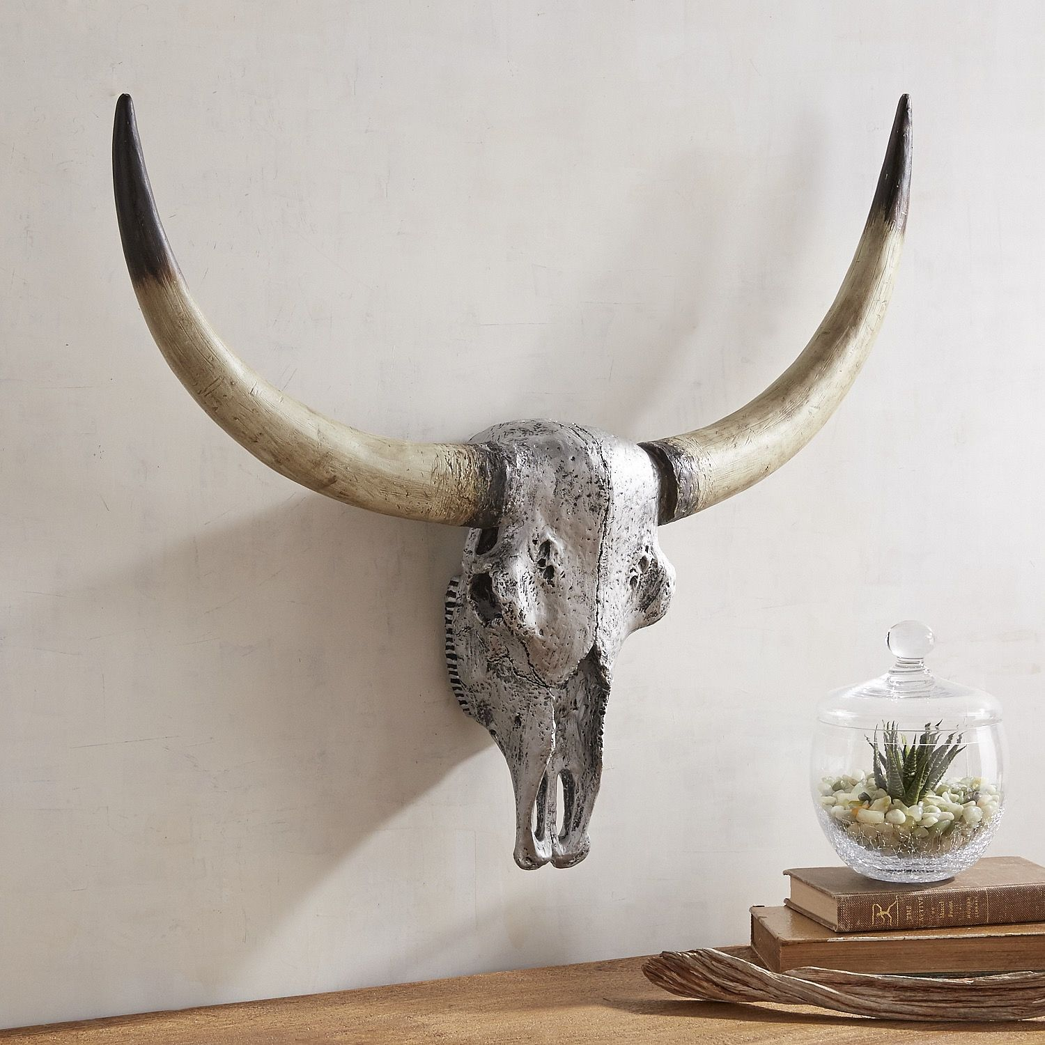Longhorn wall decor silver walls canvases and products longhorn wall decor silver amipublicfo Choice Image