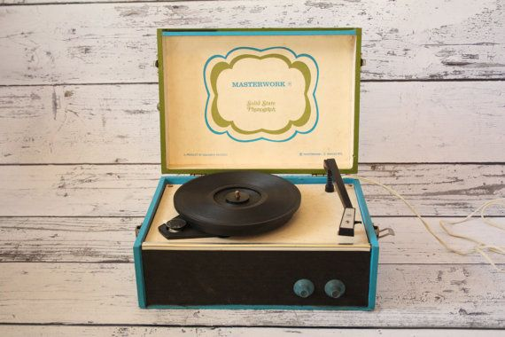 Item Vintage Masterwork Solid State Phonograph Record Player Its A Columbia Model M 2201 Which Is Product Of Records The Top Flips Up And