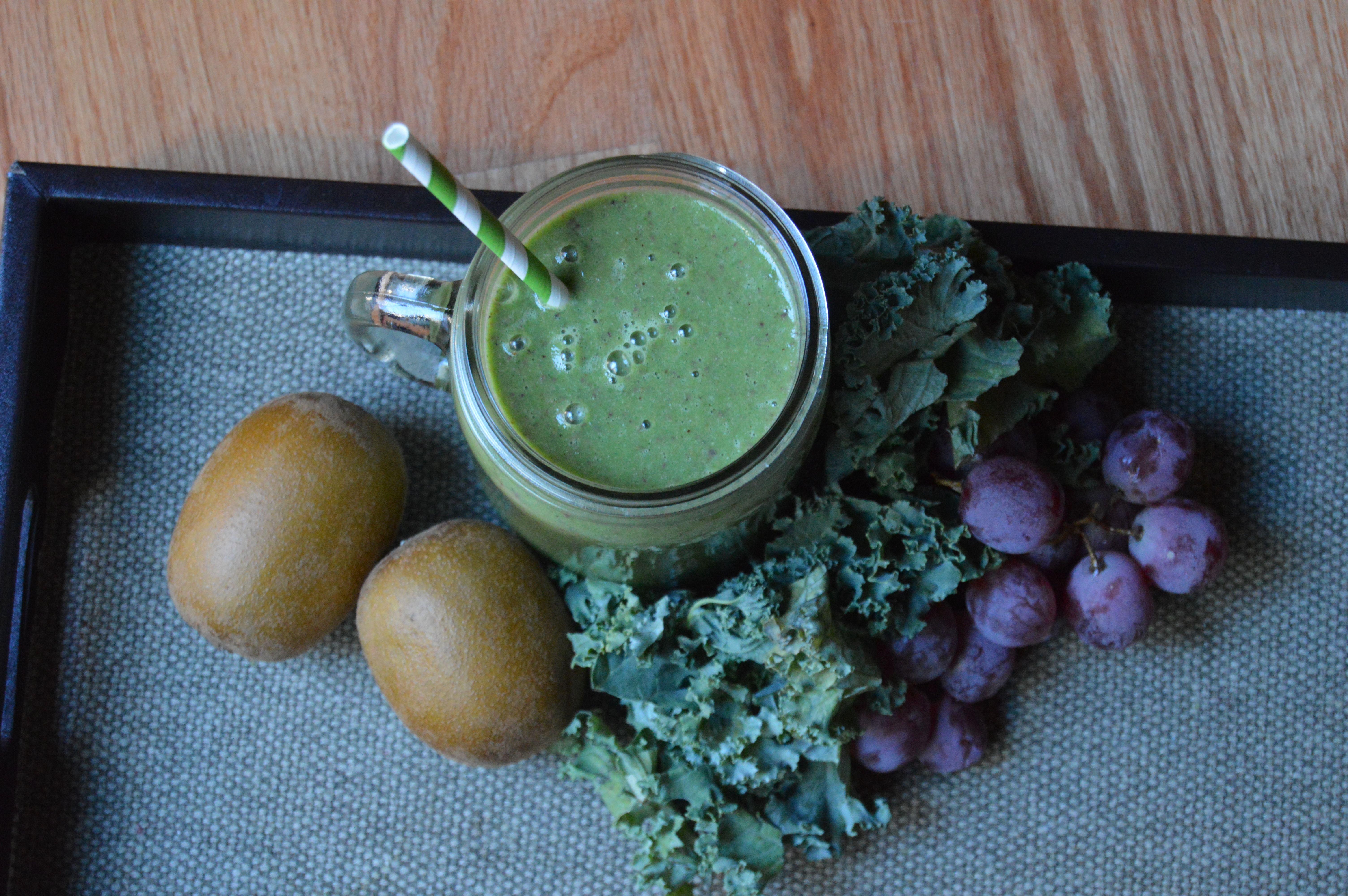 Kiwi Grapes Kale Green Smoothie Recipe ChooseSmoothies