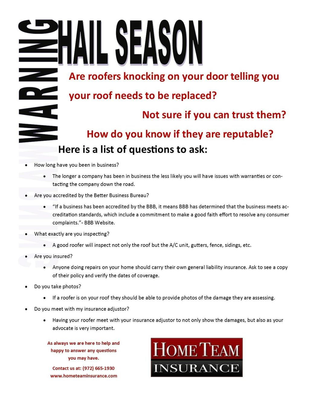Preparing For Hail Season Insurance Claims Texas Real Estate