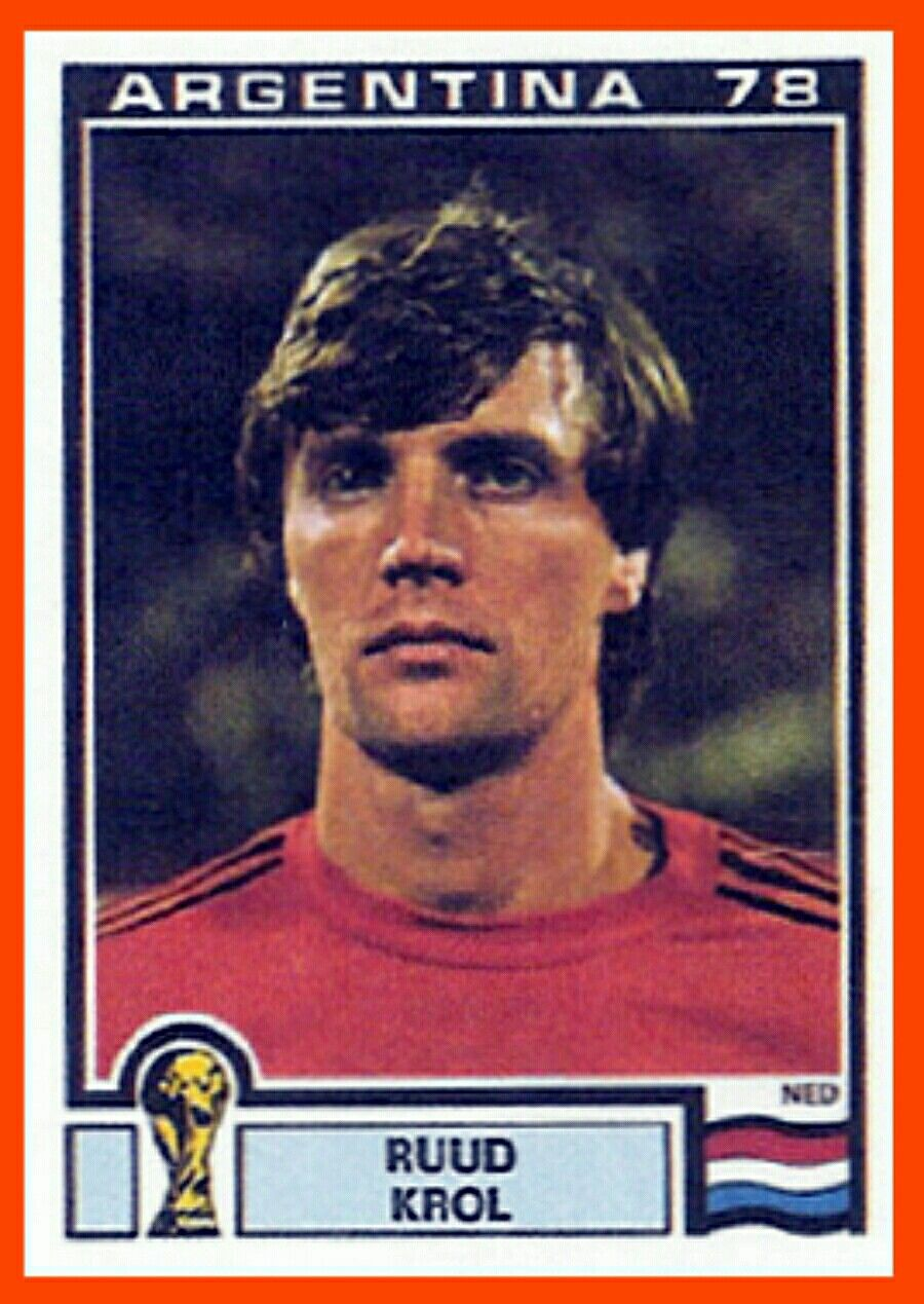 Ruud Krol of Holland 1978 World Cup Finals card