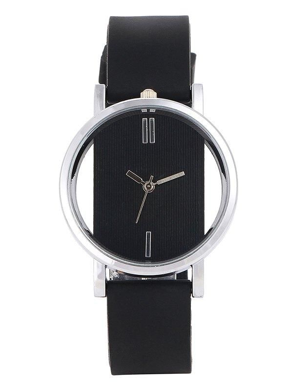 e2801463d2  SammyDress -  Rosewholesale Hollow Out Silicone Analog Wrist Watch -  AdoreWe.com