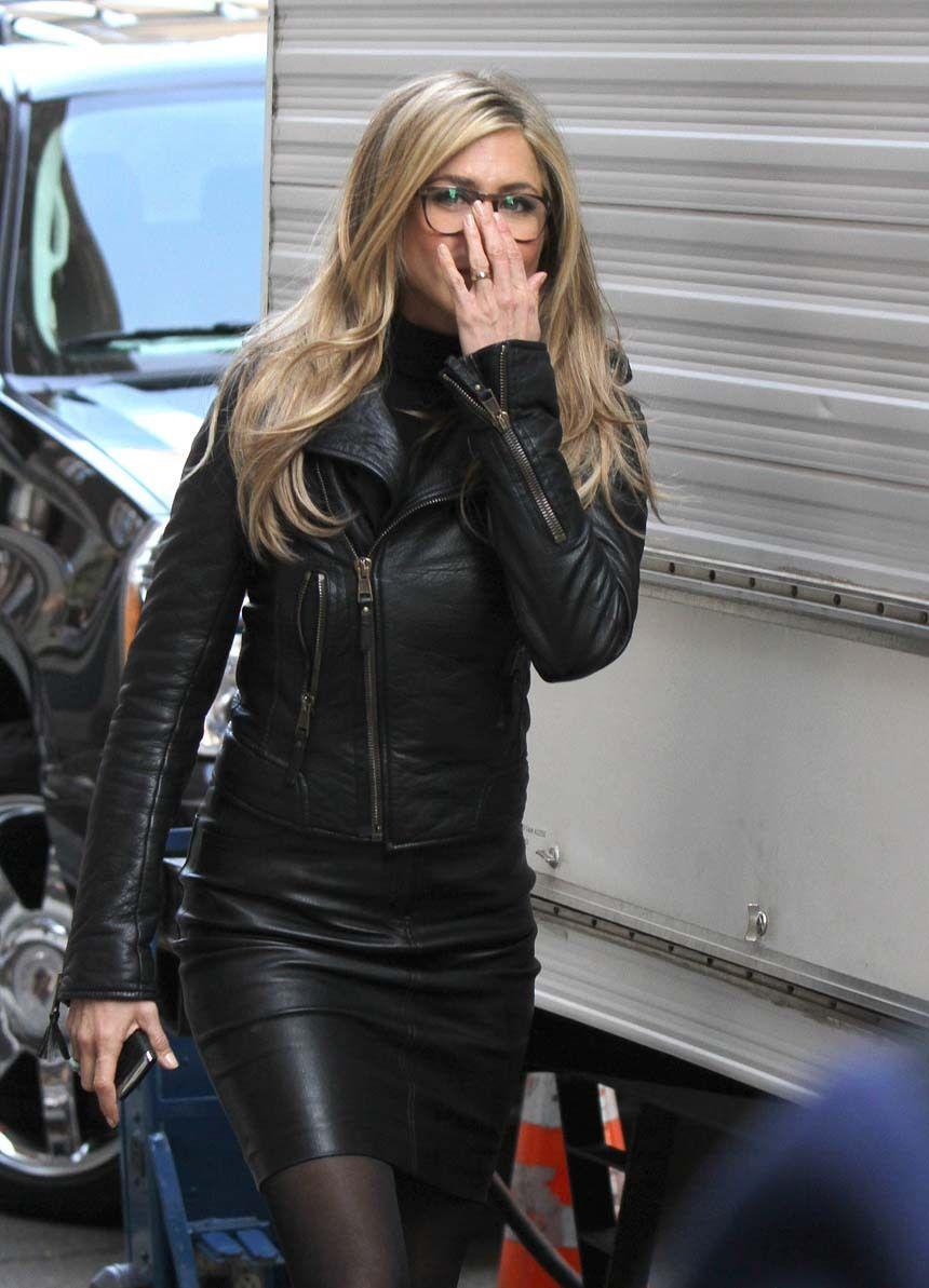 Handmade Jennifer Aniston in Leather Jacket Black real ...