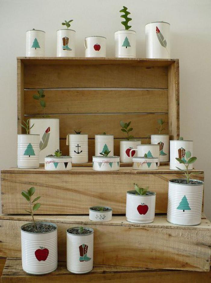 Image Result For Pot De Fleur Avec Boite De Conserve Market Craft