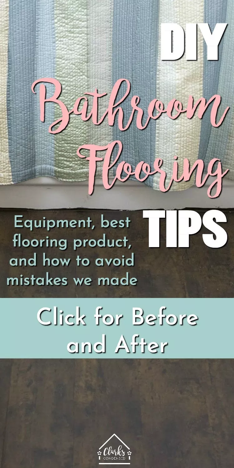 Easy DIY Bathroom Flooring Renovation images