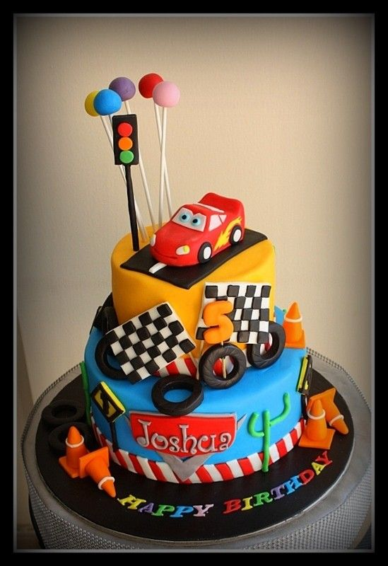 Outstanding Lightning Mcqueen Car Cake 3 Cars Birthday Cake Mcqueen Cake Personalised Birthday Cards Veneteletsinfo