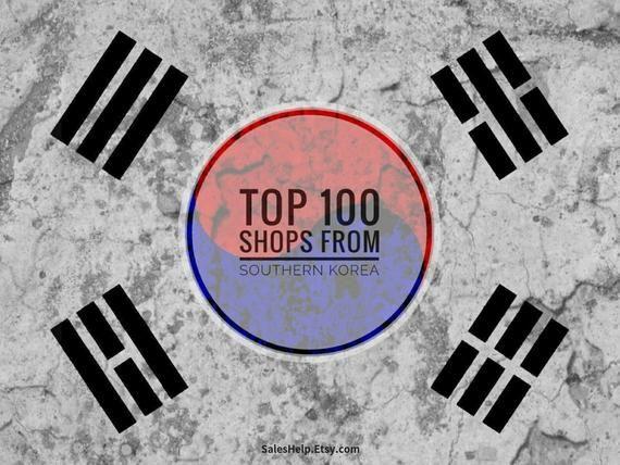 Top Etsy Shops SOUTH KOREA, Made in Korea, Top Shops List, Popular Etsy Sellers,…