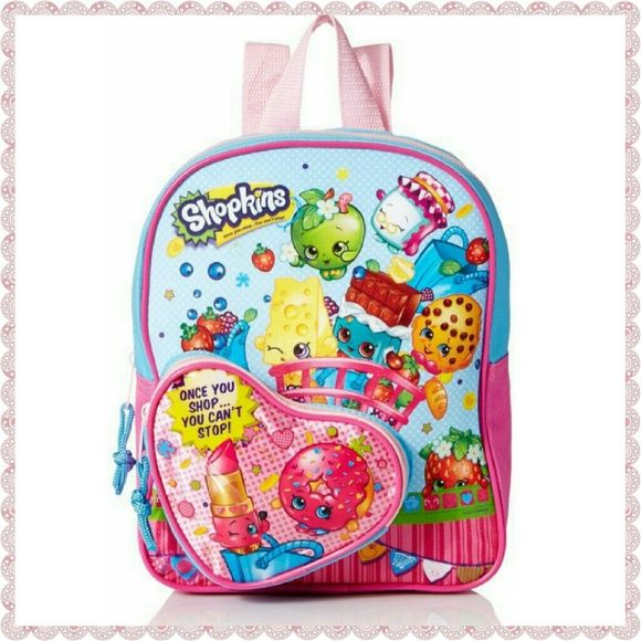 Shopkins 10 inch Mini Backpack with Coin Purse
