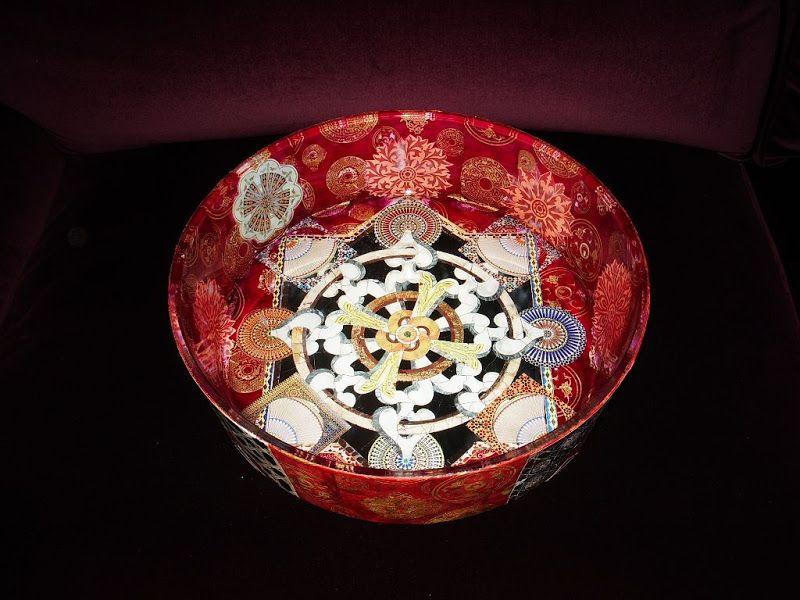 Bowls and Platters - Decoupage Artist Jill Barnes-Dacey