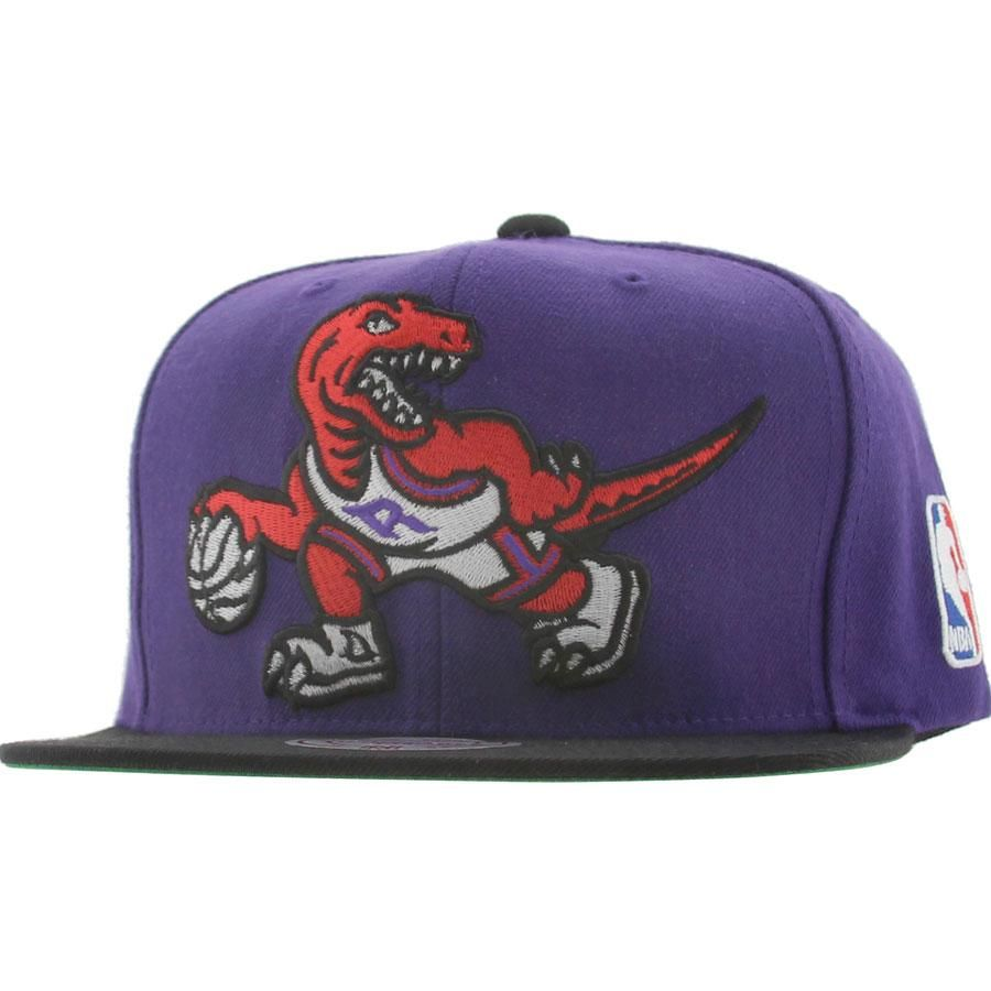 e056a3301d0 Mitchell and Ness Toronto Raptors STA3 Wool Snapback Cap in purple and black