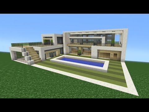 Minecraft How to build a AFrame Modern House Teaching you how to