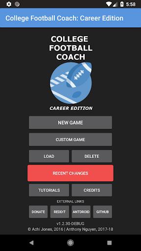 College Football Coach Career Edition V1 4 3 Apk Mod Hack