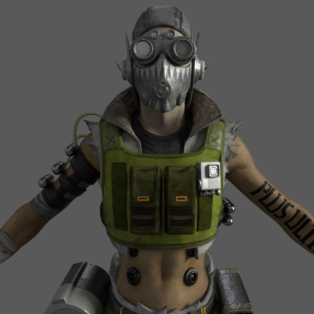 Octane apex legends 3d model 3d model character