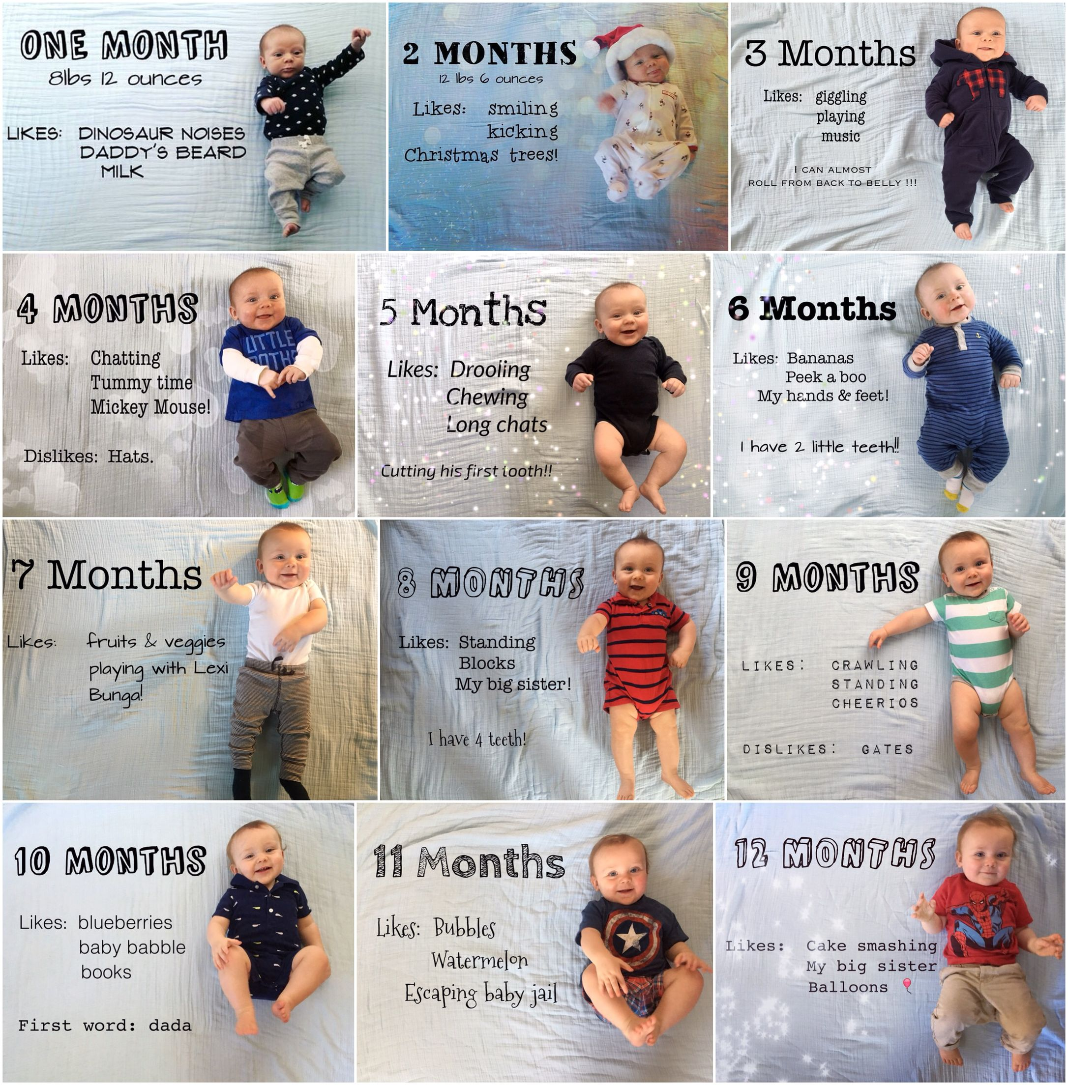 First Year Monthly Photo Idea Baby R Monthly Baby Photos Baby