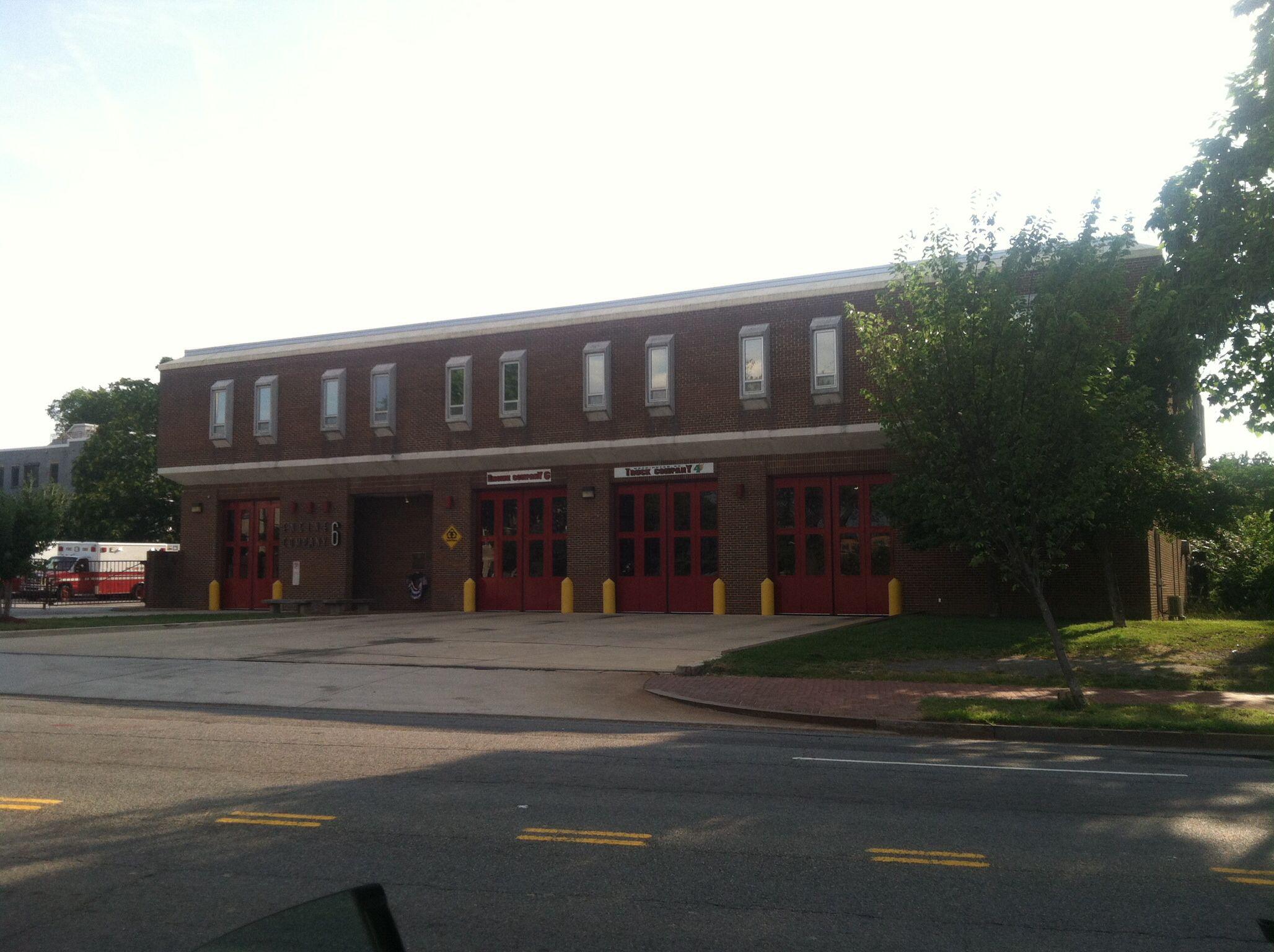 DCFD Engine 6, Truck 4 and Ambulance 6. 1300 New Jersey