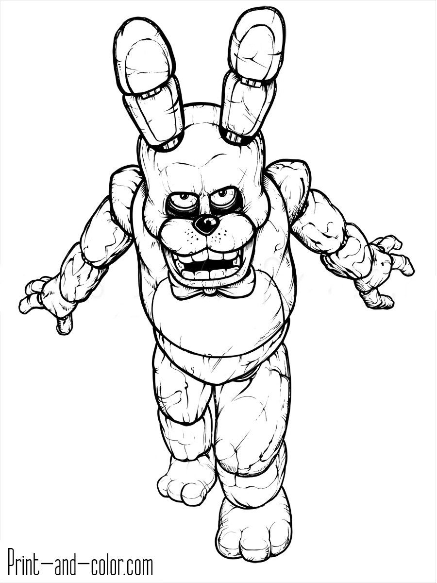 Five Nights At Freddy S Coloring Pages Five Nights At Freddys Coloring Pages Print And Color Entitlementtrap Com Fnaf Coloring Pages Coloring Pages Bear Coloring Pages