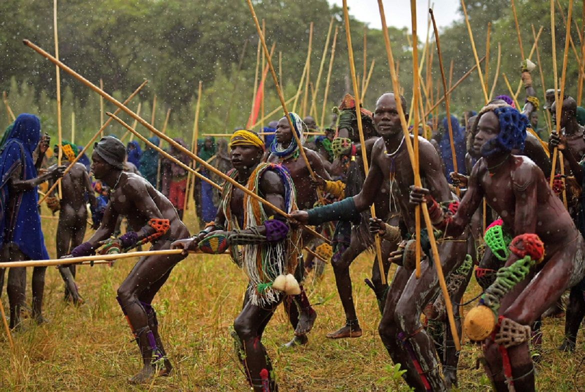 nude male tribe fight