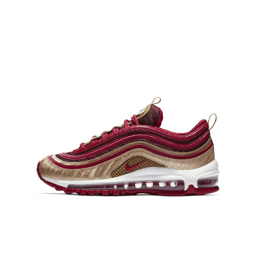 Nike Air Max 97 QS Big Kids' Shoe Size 4.5Y (Noble Red