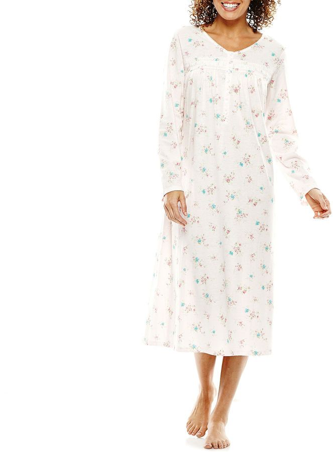Earth Angels Long-Sleeve Knit Nightgown  ad39cc8f3