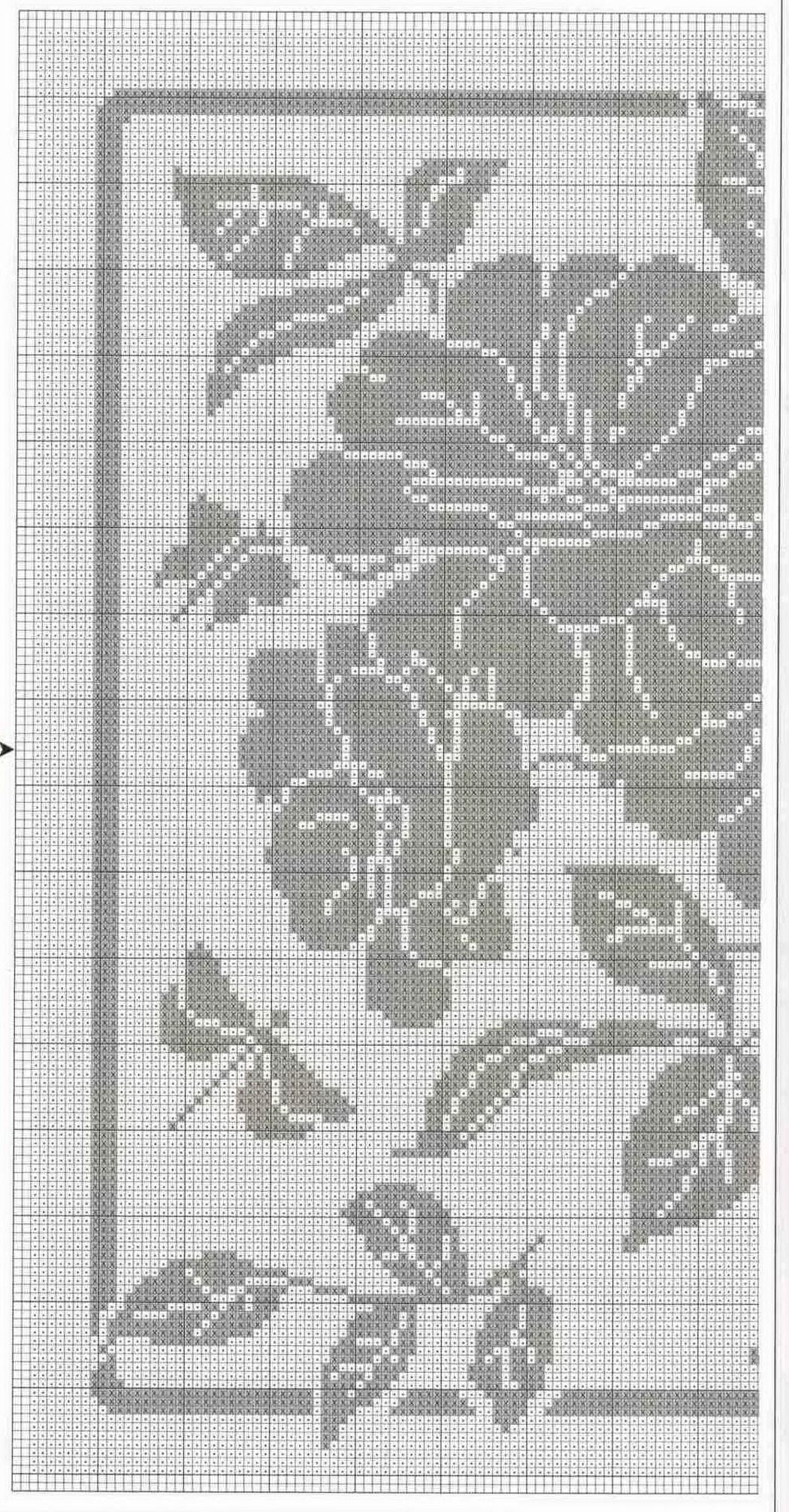 Tischdecke Blumen Schmetterlinge / Teil 1 | Häkeln / crochet ...