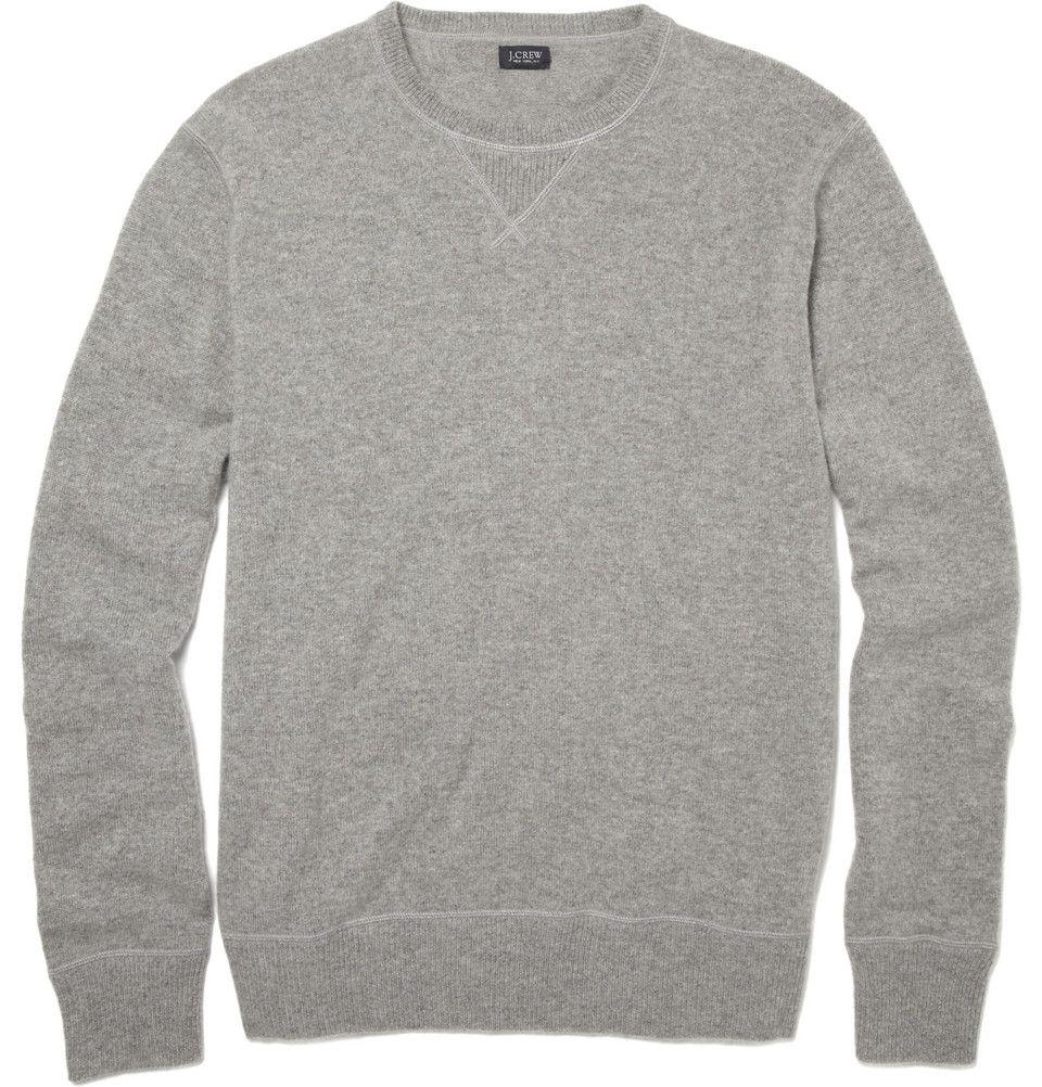 essential..grey crew neck sweater