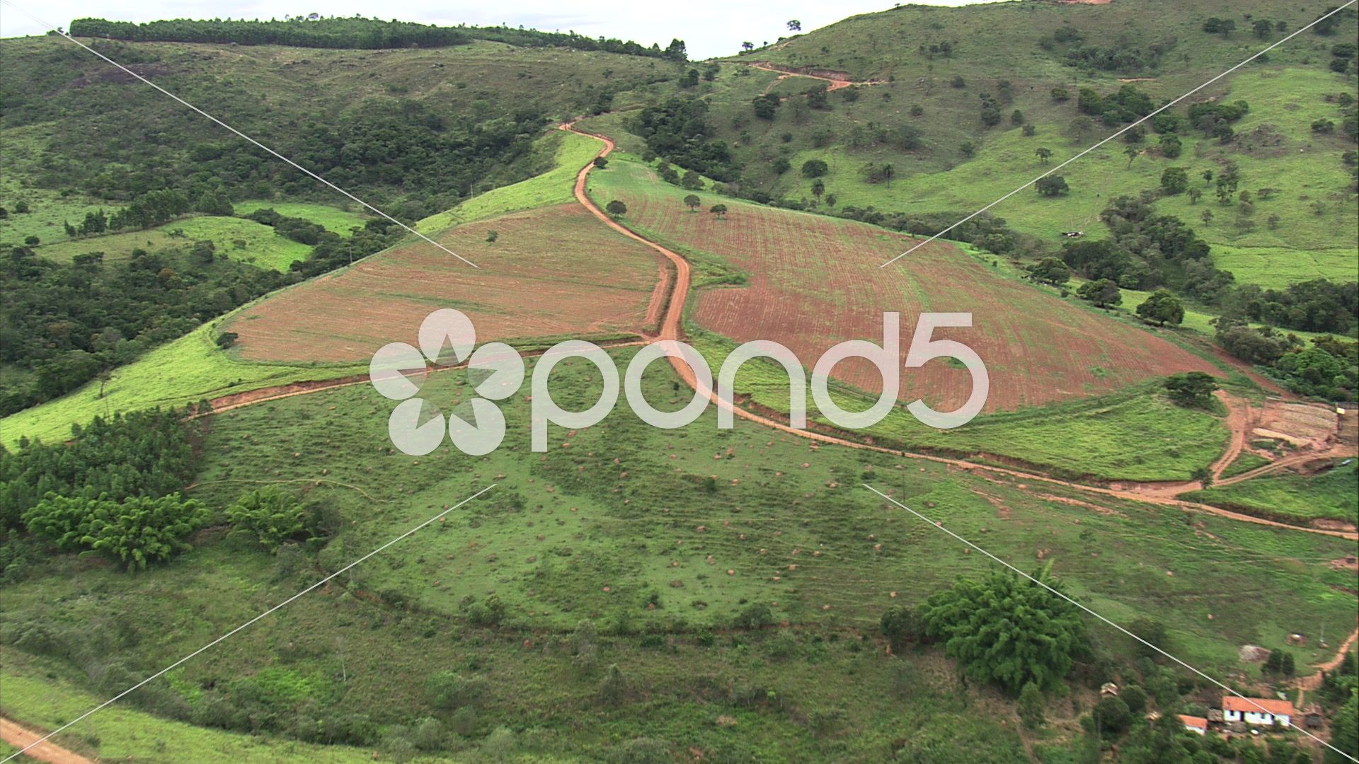 Aerial Brazil dirt road south of Belo Horizonte Belo Horizonte Stock Footage dirtroadBrazilAerial