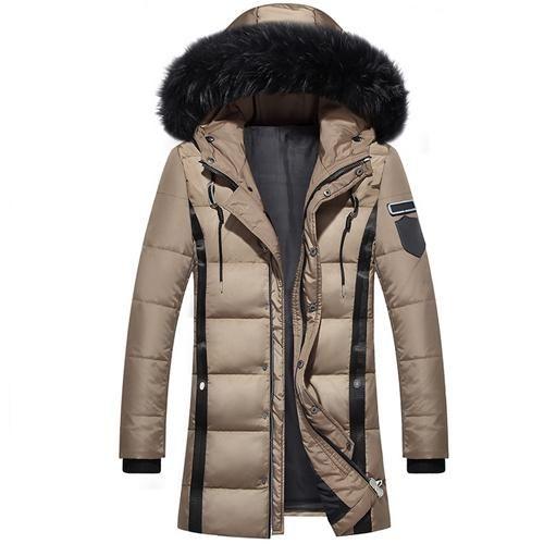 Men s Duck Down Jacket Fashion White Duck Down Jackets Zipper Coat Warm  Clothing Overcoat e55fedd6c