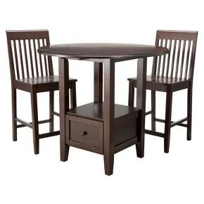 3 Piece Storage Pub Set Threshold Target Pub Table Sets
