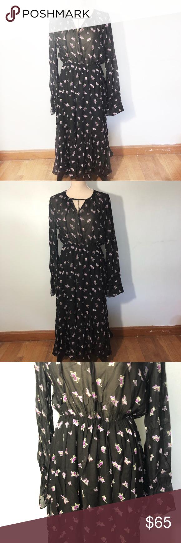 Other Stories Black Butterfly Print Maxi Dress Butterfly Print Maxi Dress Butterfly Print Dress Printed Maxi Dress [ 1740 x 580 Pixel ]
