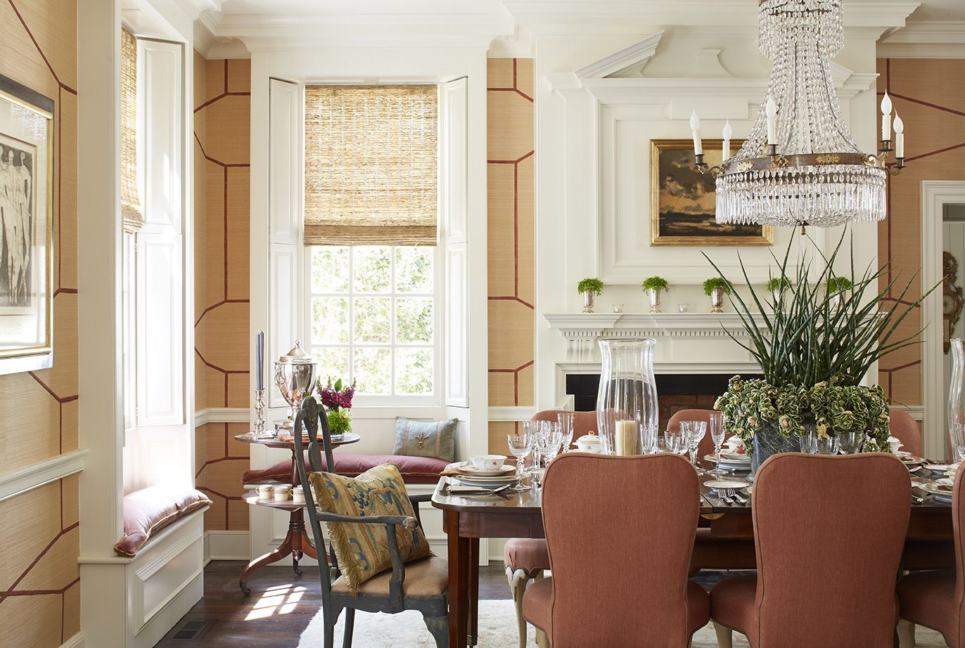 Using color and patterned in a traditional dining room with amazing finish details central park apartment tammy connor interior design