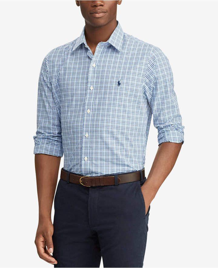 bea01d093d24 Polo Ralph Lauren Men s Slim Fit Plaid Cotton Shirt