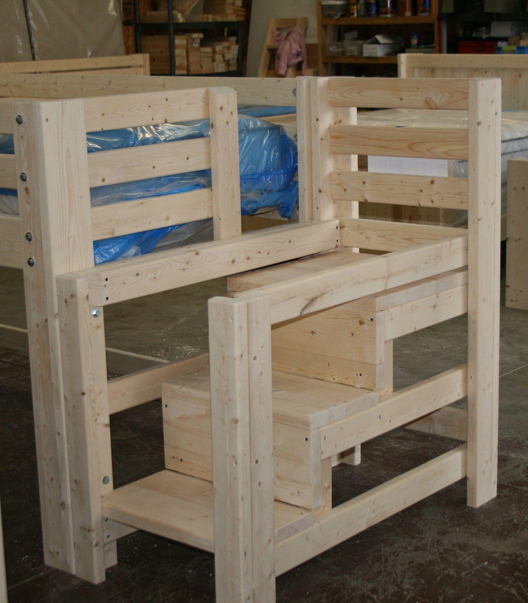 Wooden loft bed with slide  Kaitlyn Custom