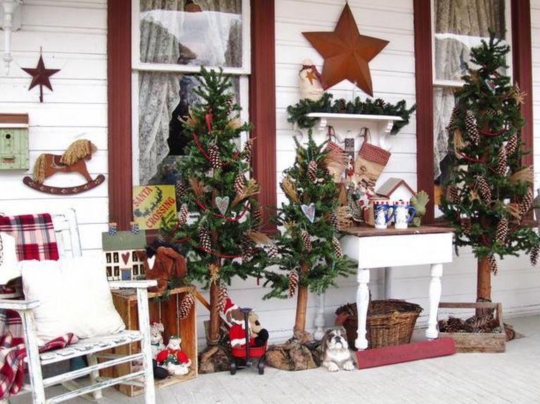 10 elementos para decorar en Navidad el porche o entrada de tu casa ...