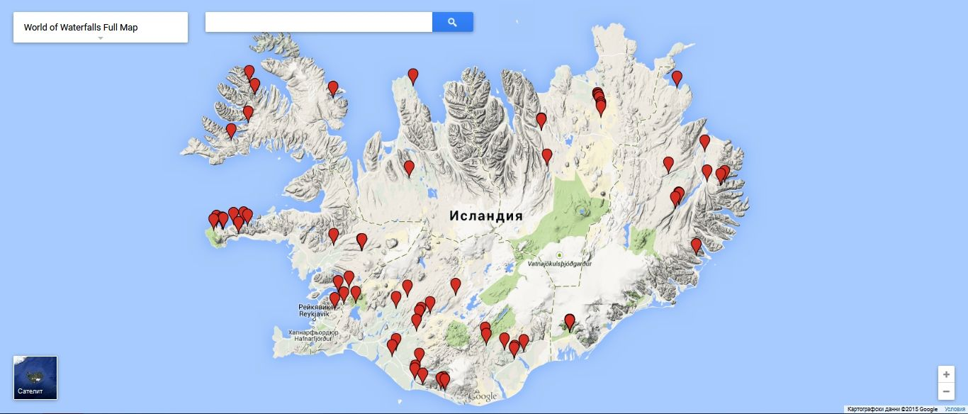 graphic relating to Printable Map of Iceland identified as Waterfalls Iceland Map Areas in the direction of Pay a visit to Iceland with little ones