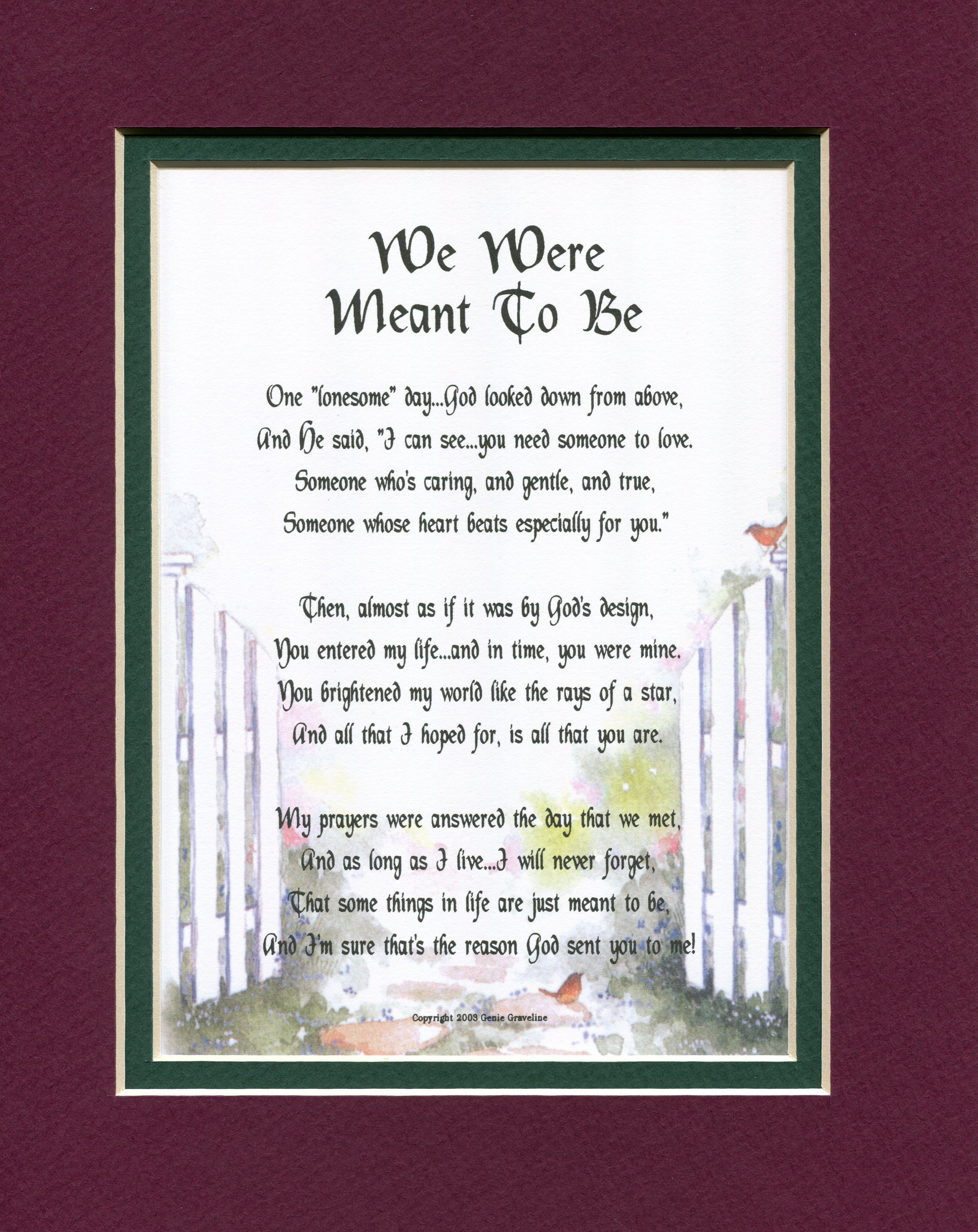 We Were Meant To Be A Sentimental Gift For The One You Love A Wife