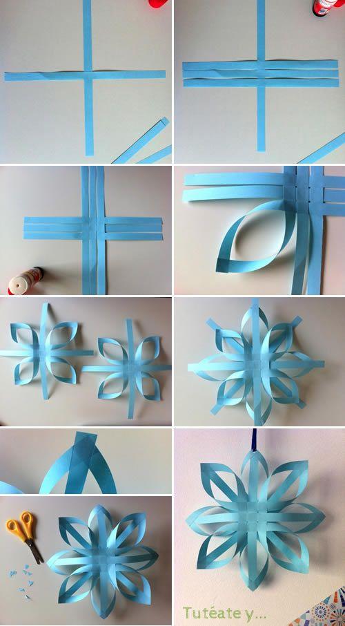 Manualidades paso a paso 6 como hacer una bolsa de regalo - Adornos de navidad con papel ...