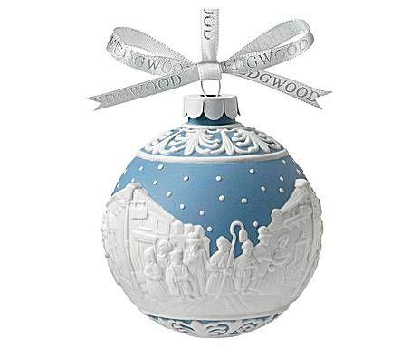 Wedgwood Addobbi Natale.Wedgwood Christmas Pallina Ornamentale In Porcellana E Cotone Carol Singers D 8 Cm Ornamenti Natalizi Palline Di Natale Accessori Per La Casa