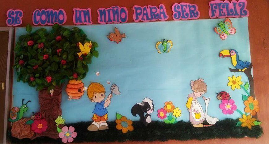 Peri dico mural de primavera marzo peri dicos murales for El mural pelicula descargar