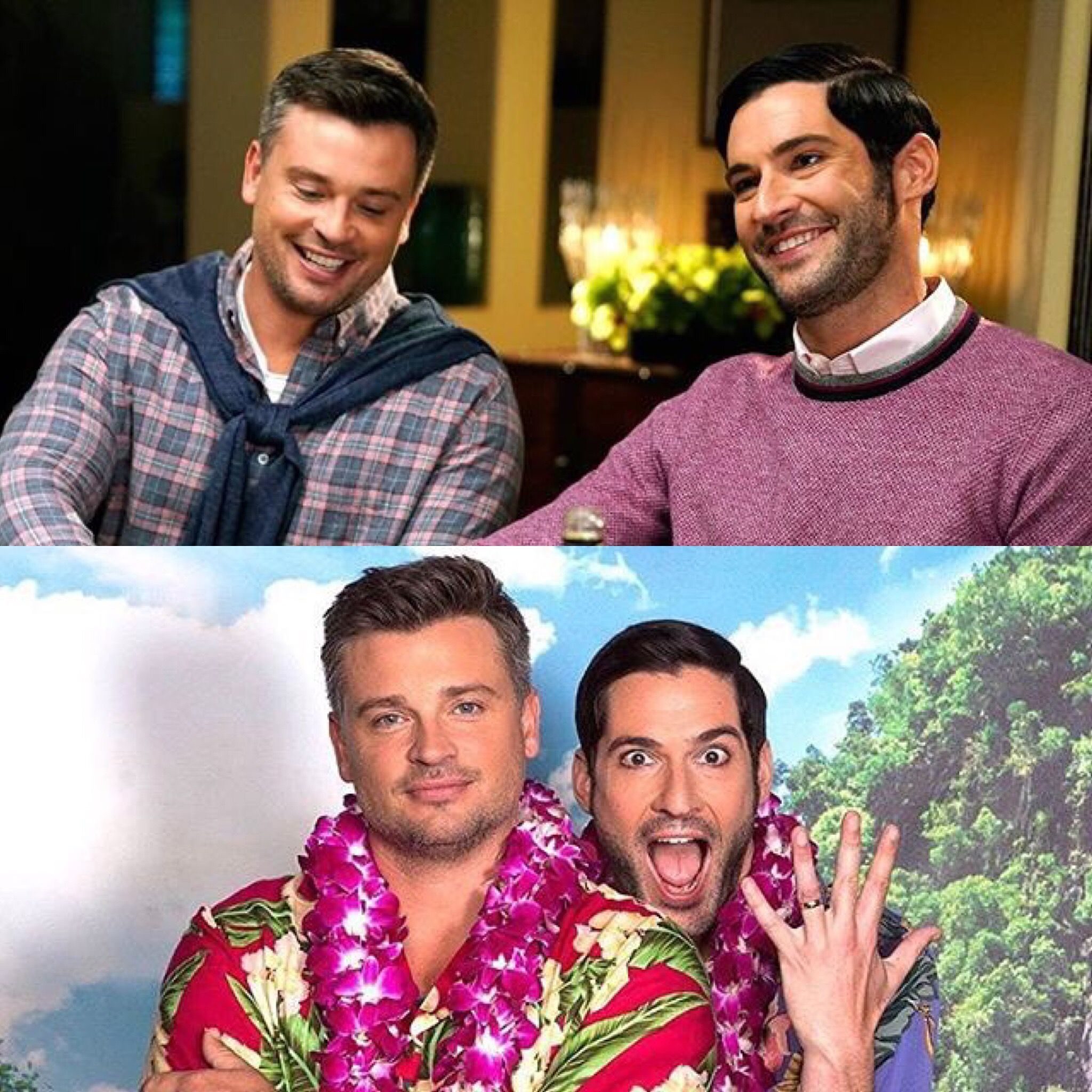 Tom Welling And Tom Ellis In A Photo From The 1/29/2018