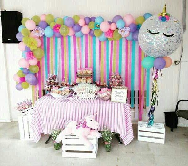 Mesa de dulces unicornio fiesta fiesta unicornio baby - Fiesta baby shower nina ...