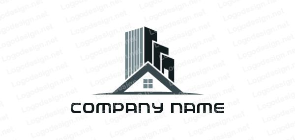 Buildings On Gable Roof Of House Logo Templates Free Logo Logo Maker