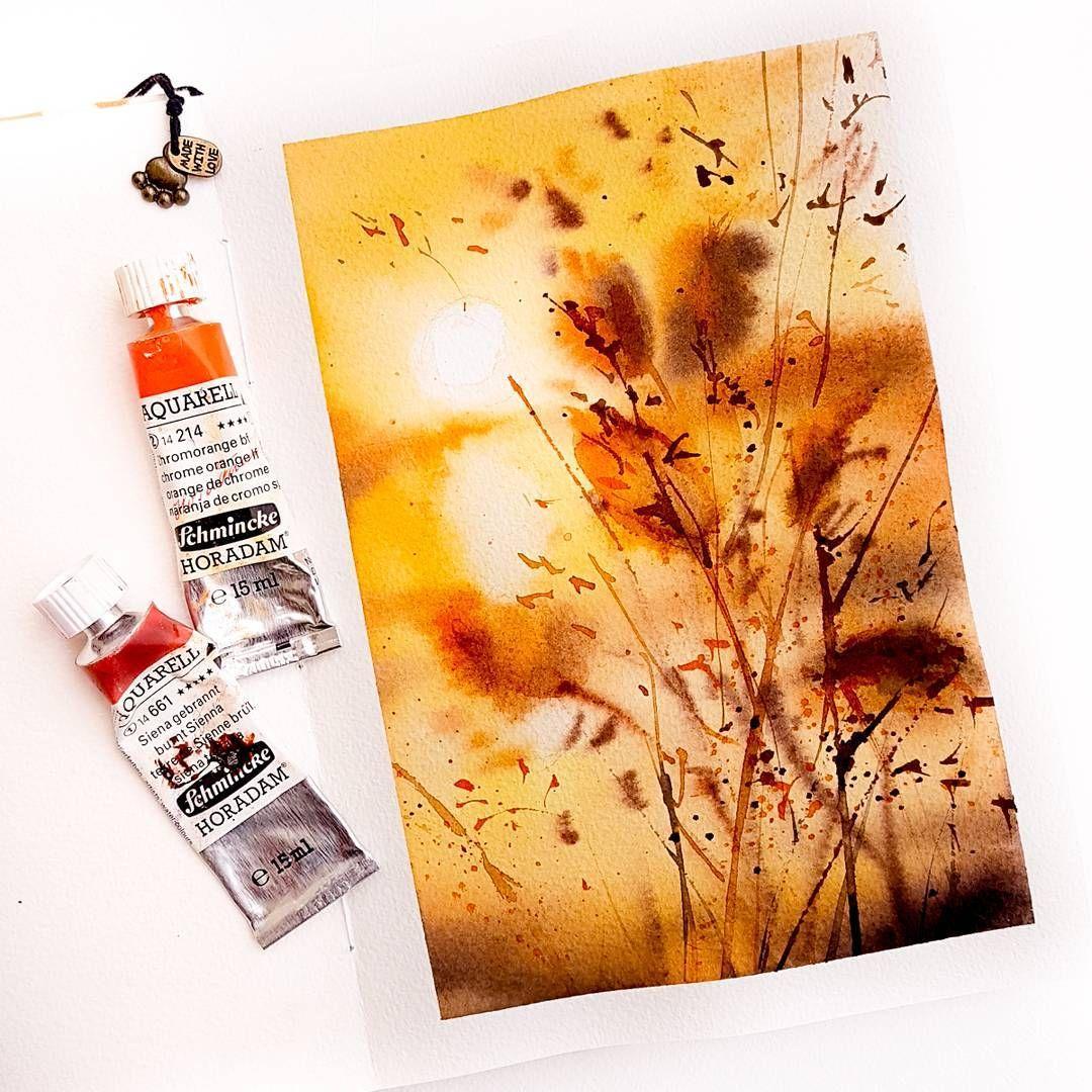 4 936 Likes 49 Comments Watercolor Akvarel Mk Nadja Leutloff