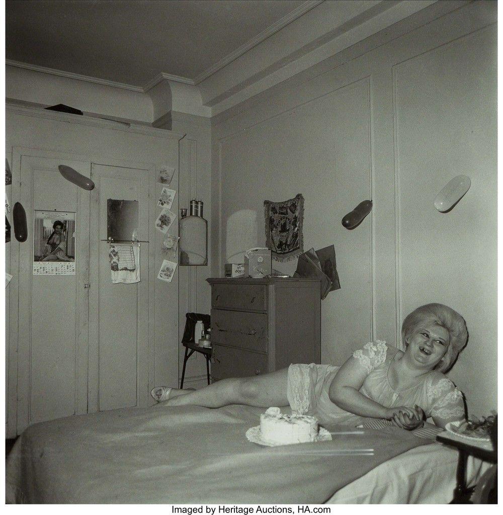 Diane Arbus Transvestite At Her Birthday Party N Y C 1969