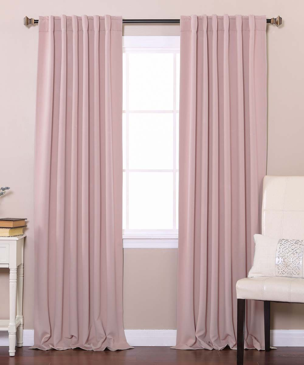 Dusty Pink Blackout Curtain Panels Set Of Two Pink Blackout