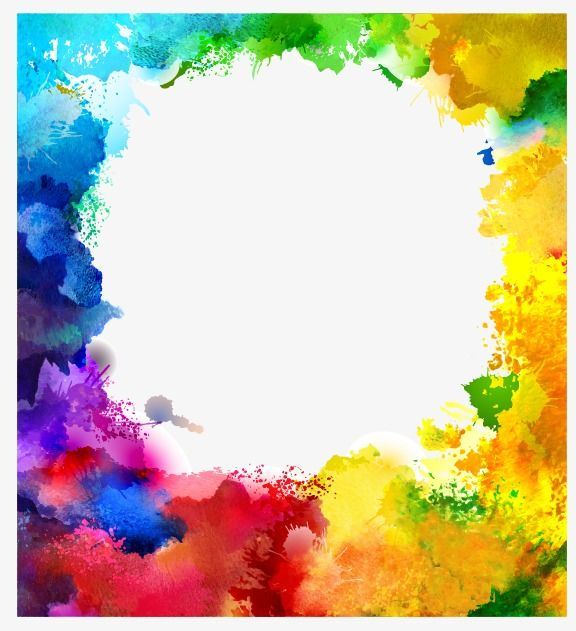 Splash Watercolor Multicolor Background Note Splash Vector Png