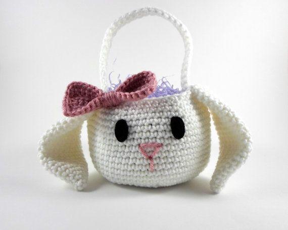 Artículos similares a Canasta de Pascua conejo cesta, cesta de ...