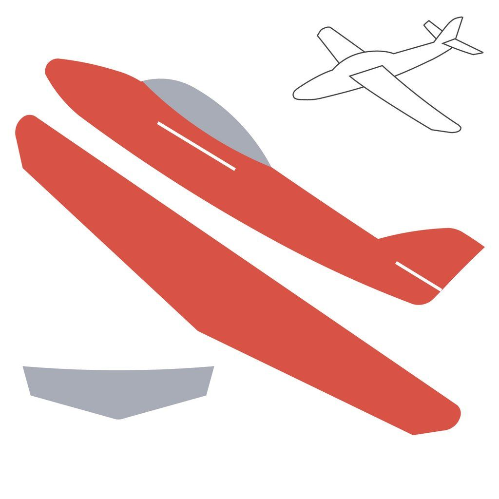 Cardboard Airplane Template Click On Image To Zoom Isaacs 1st