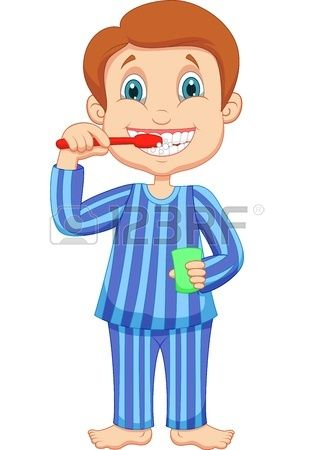 petite bande dessin e mignonne de gar on se brosser les dents vecteurs pinterest brosser. Black Bedroom Furniture Sets. Home Design Ideas